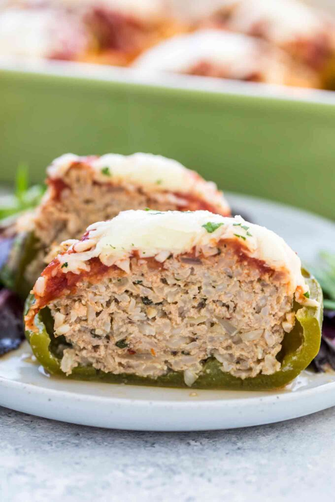 Turkey Stuffed Peppers with Brown Rice