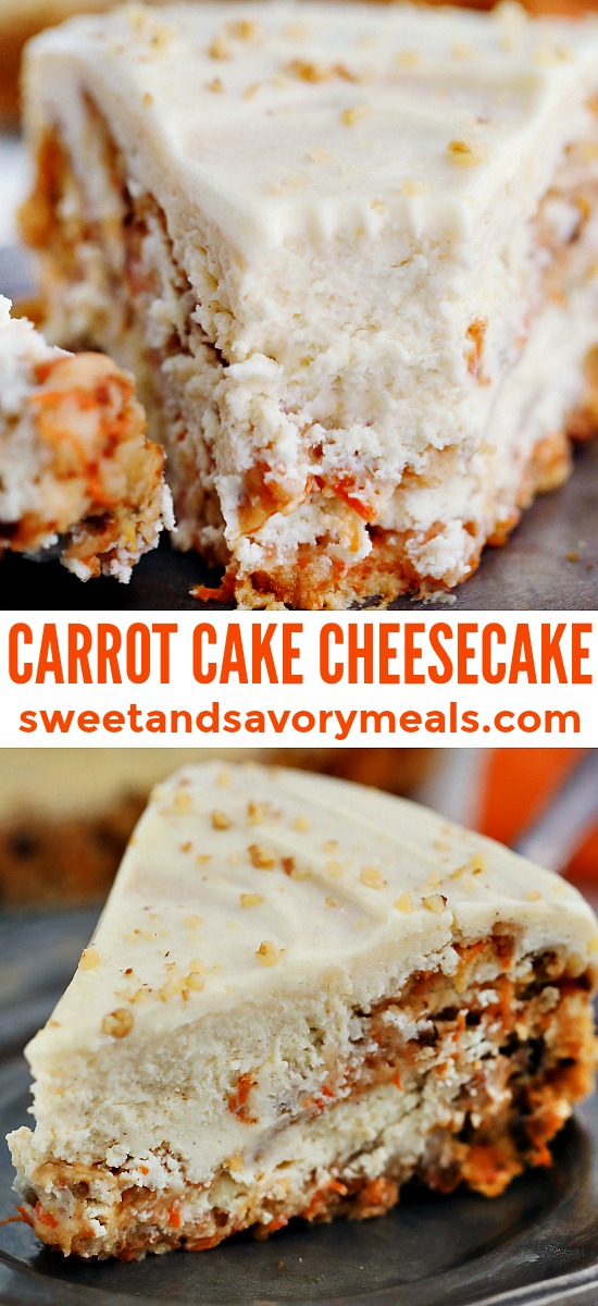 Image of classic carrot cake cheesecake.