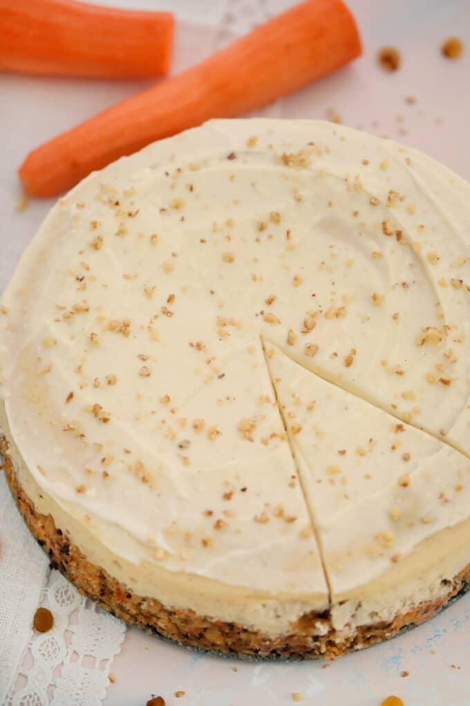 Picture of carrot cake cheesecake