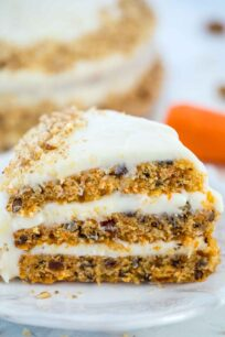 Homemade Carrot Cake Slice