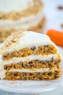 Homemade Carrot Cake Slice