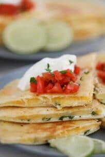 Easy Cheese Quesadilla Recipe