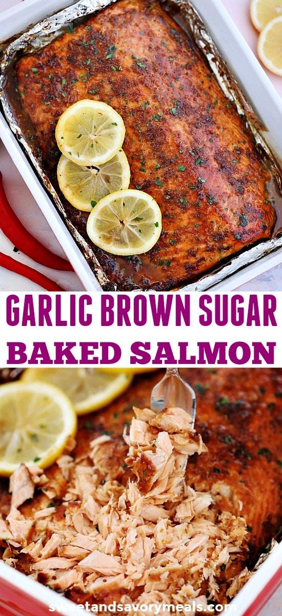 Garlic Brown Sugar Glazed Salmon Recipe