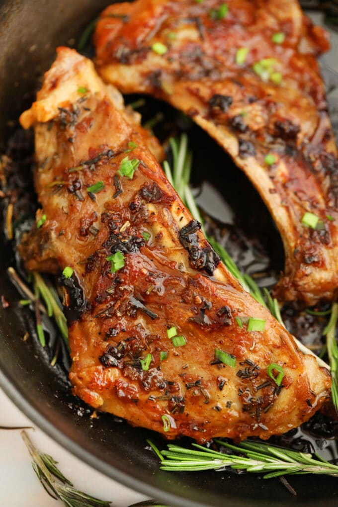 Garlic brown sugar lamb ribs photo.