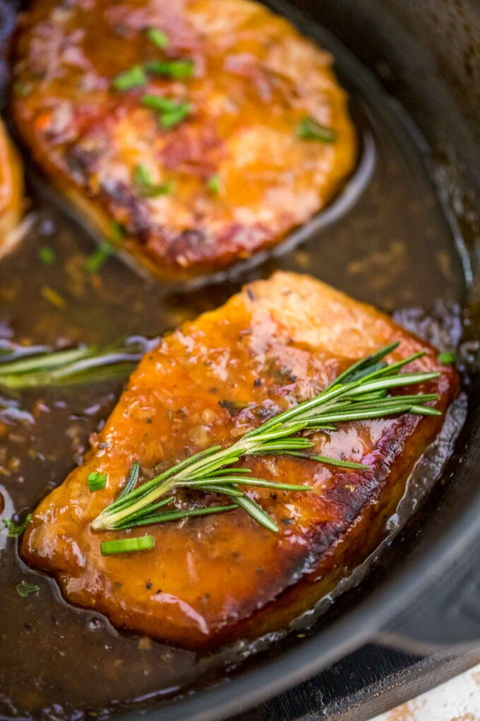 Honey Garlic Pork Chops with Rosemary