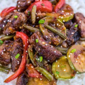 One Pan Hunan Beef Recipe