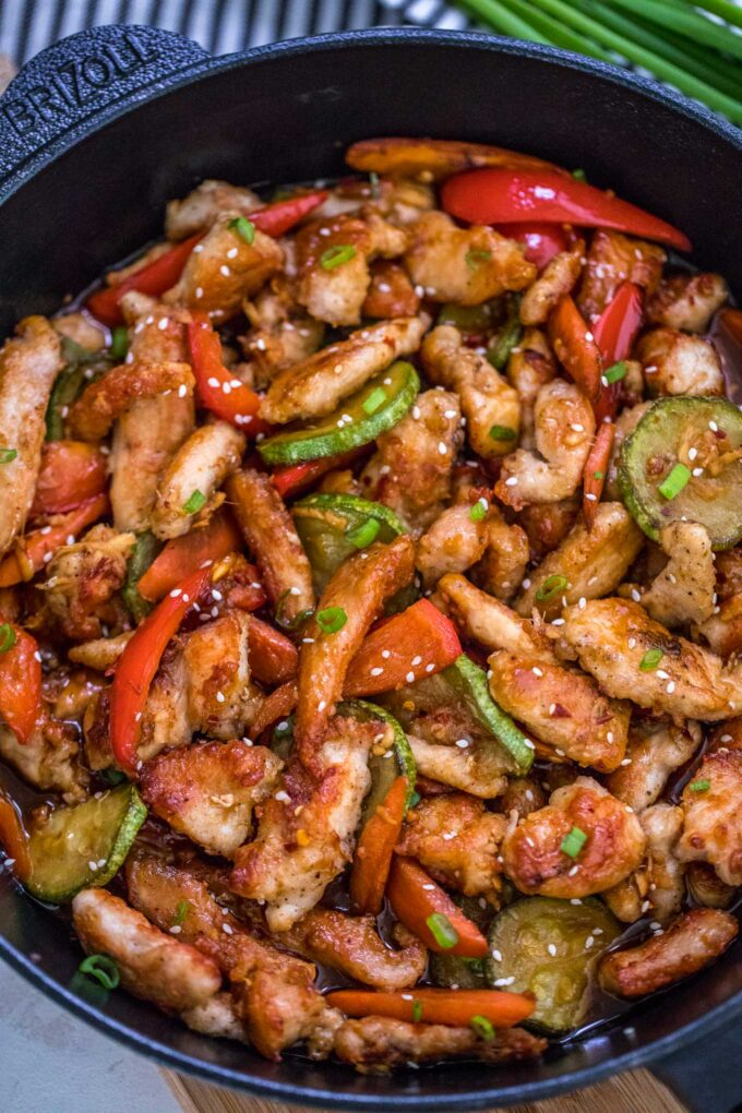 Image of hunan chicken.