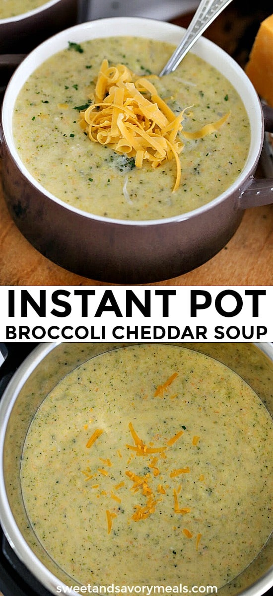 Cheesy Best Instant Pot Broccoli Cheddar Soup