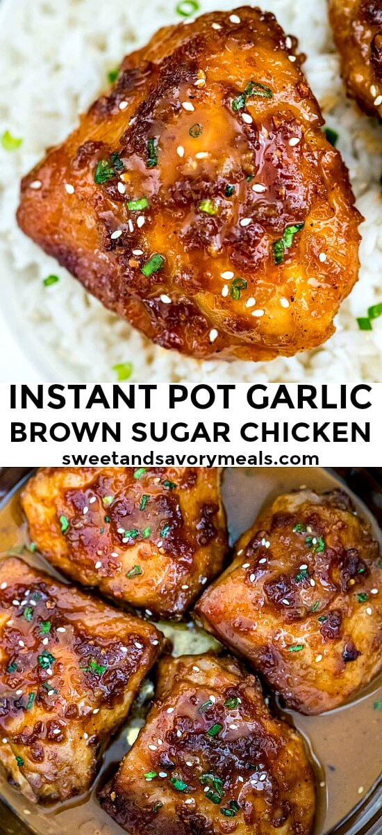 Instant Pot Brown Sugar Garlic Chicken