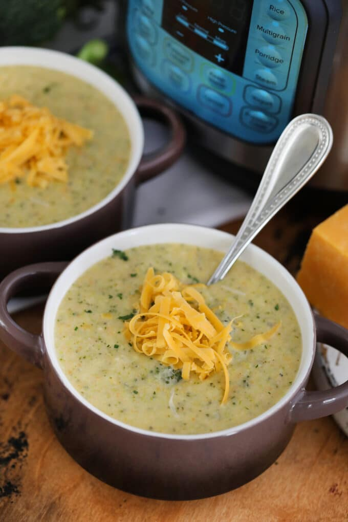 Instant Pot Broccoli Cheddar Soup Sweet And Savory Meals