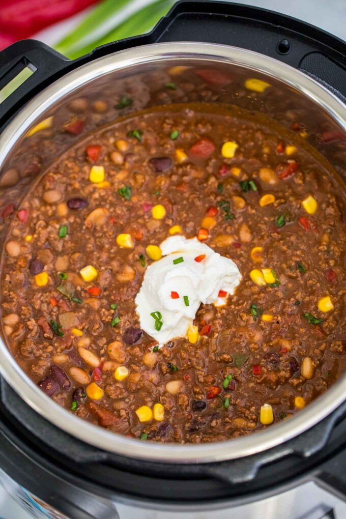 Instant Pot Three Bean Chili Sweet And Savory Meals