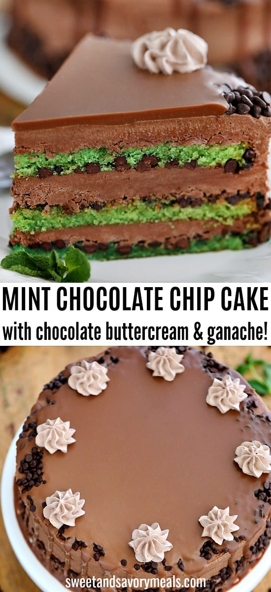 Best Mint Chocolate Chip Cake