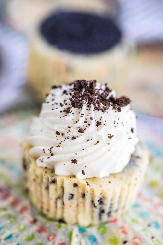 Easy Mini Oreo Cheesecakes