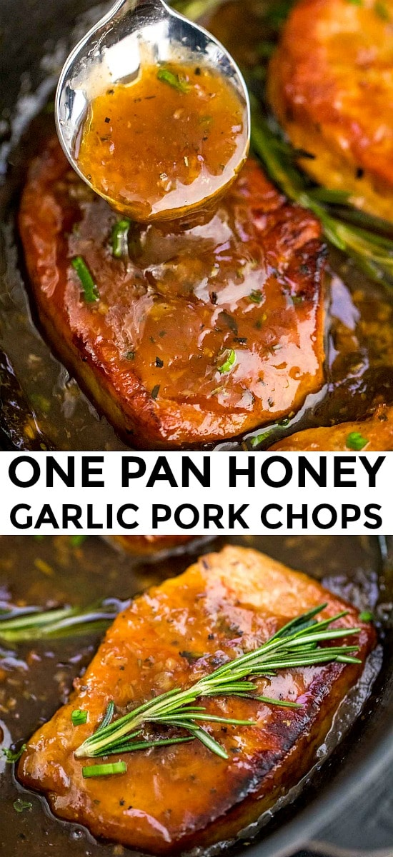 Honey Garlic Pork Chops in a sticky sauce
