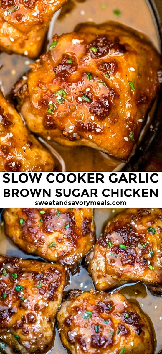 Best Slow Cooker Brown Sugar Garlic Chicken
