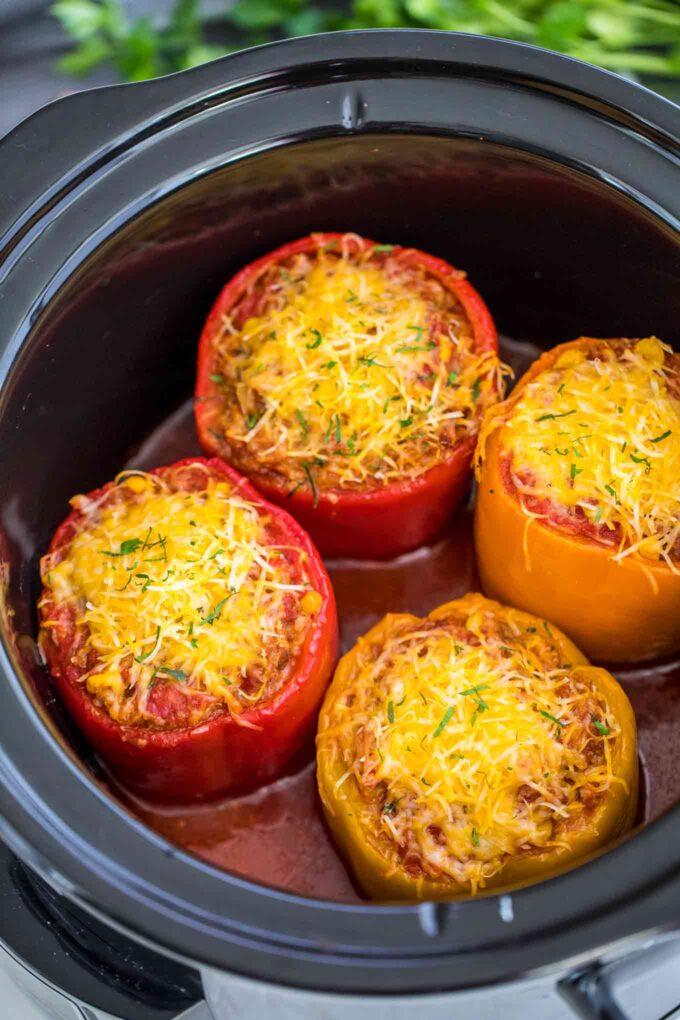 Slow Cooker Mexican Stuffed Peppers