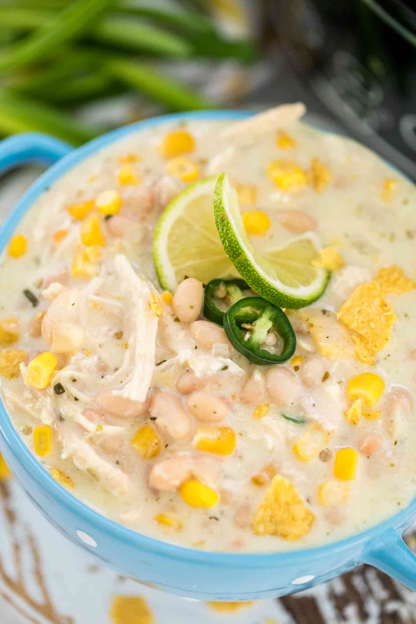 Creamy Crockpot White Chicken Chili Sweet And Savory Meals,Origami For Beginners Step By Step