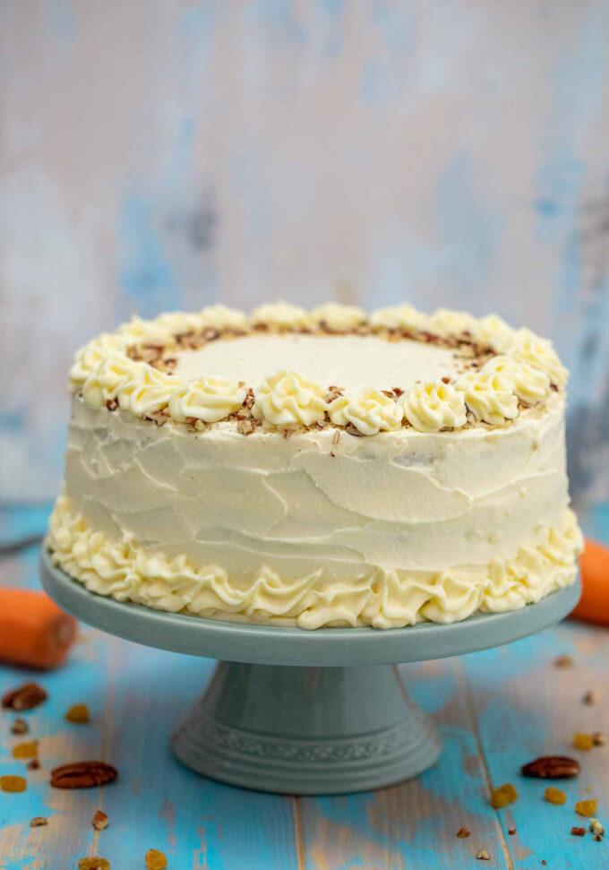 Image of homemade carrot cake.