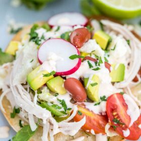 Mexican Chicken Tostadas