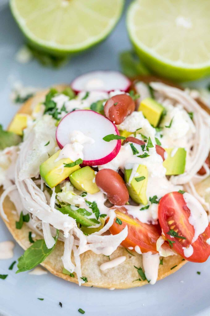 Easy Chicken Tostadas Recipe