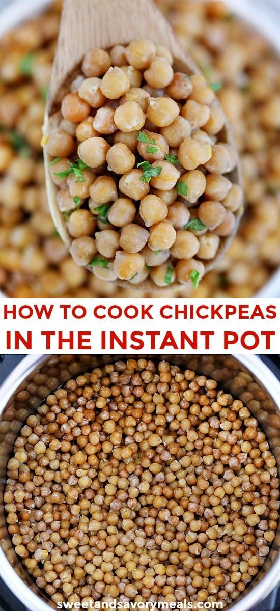 Easy Instant Pot Chickpeas Recipe