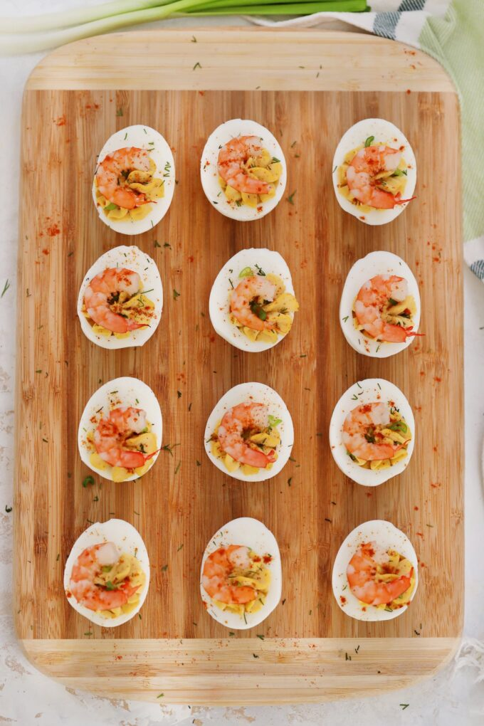 Best Deviled Eggs with Old Bay Shrimp Recipe