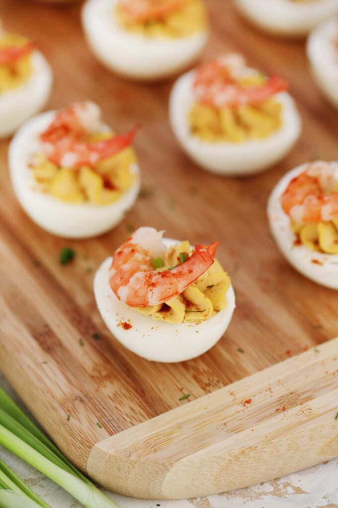 Easy Deviled Eggs with Old Bay Shrimp Recipe
