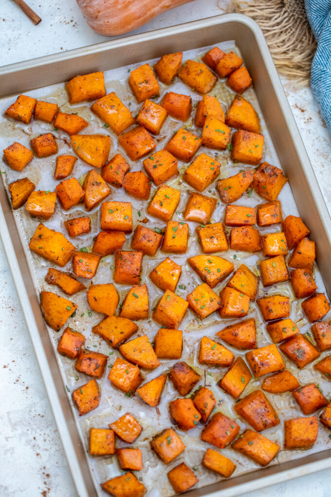 Butternut Squash is a highly versatile and healthy recipe that you can make all year around. You can even make this into a side dish with just three other ingredients! #butternutsquash #sidedish #veganrecipes #vegetarianrecipes #healthyrecipes #sweetandsavorymeals