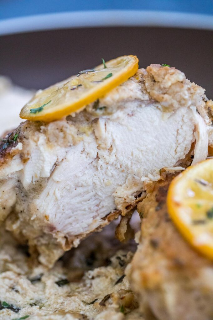 photo of sliced lemon pepper chicken breast
