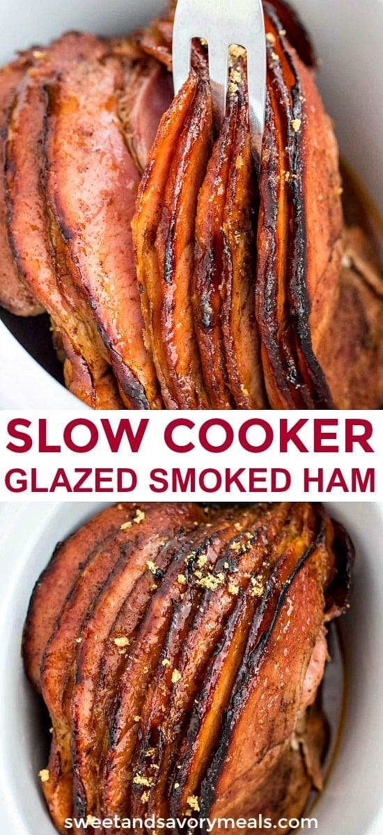 Slow Cooker Glazed Smoked Ham