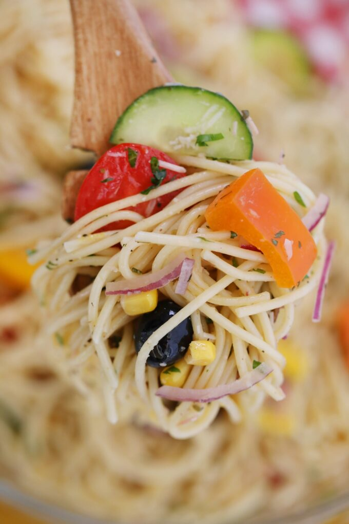 Best Vegetarian Spaghetti Salad