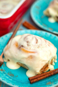 Picture of homemade cinnamon rolls.