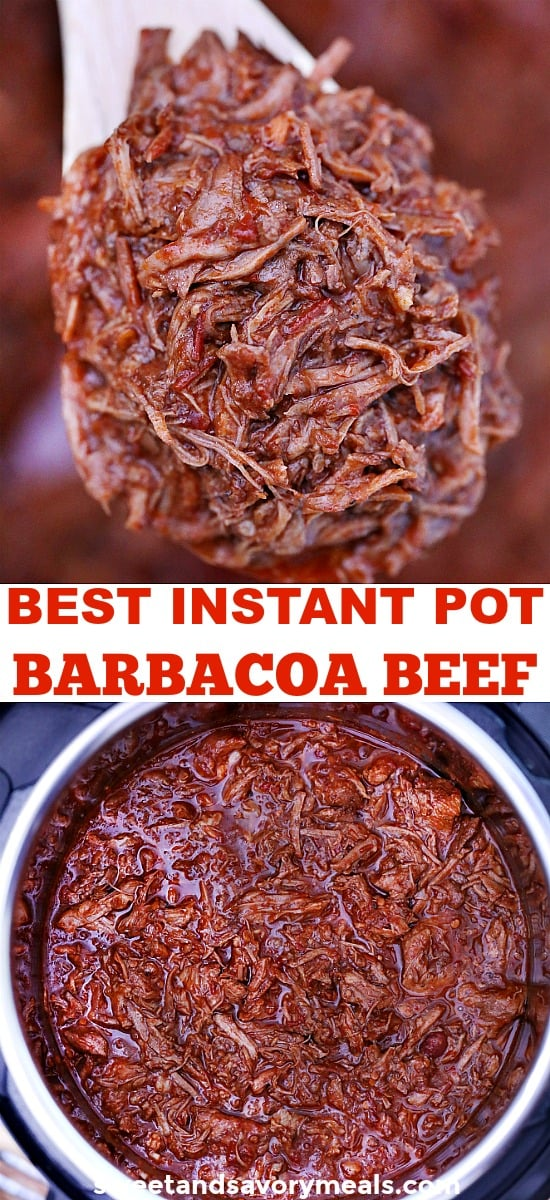 Instant pot barbacoa beef photo.
