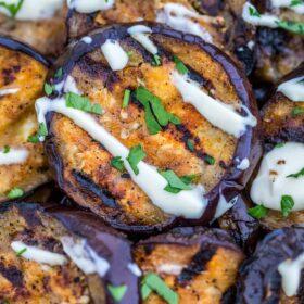 Grilled Eggplant with Lemon Aioli
