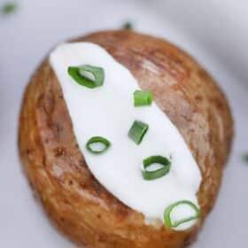 Crispy Instant Pot Baked Potatoes
