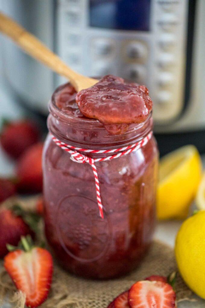 Homemade Instant Pot Strawberry Jam Recipe