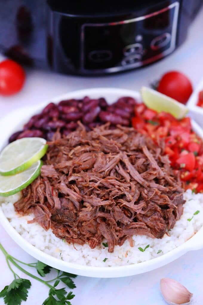 Slow Cooker Barbacoa Beef Chipotle Copycat