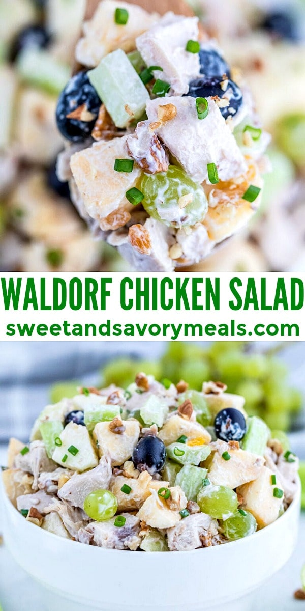 easy waldorf chicken salad pin