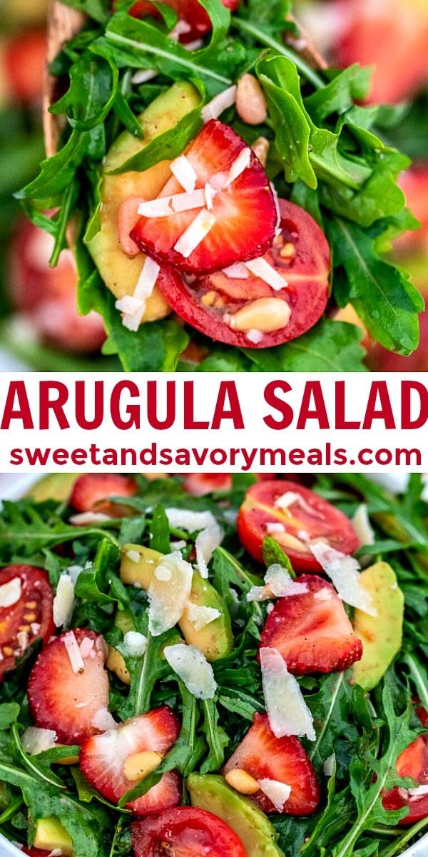 easy arugula salad pin