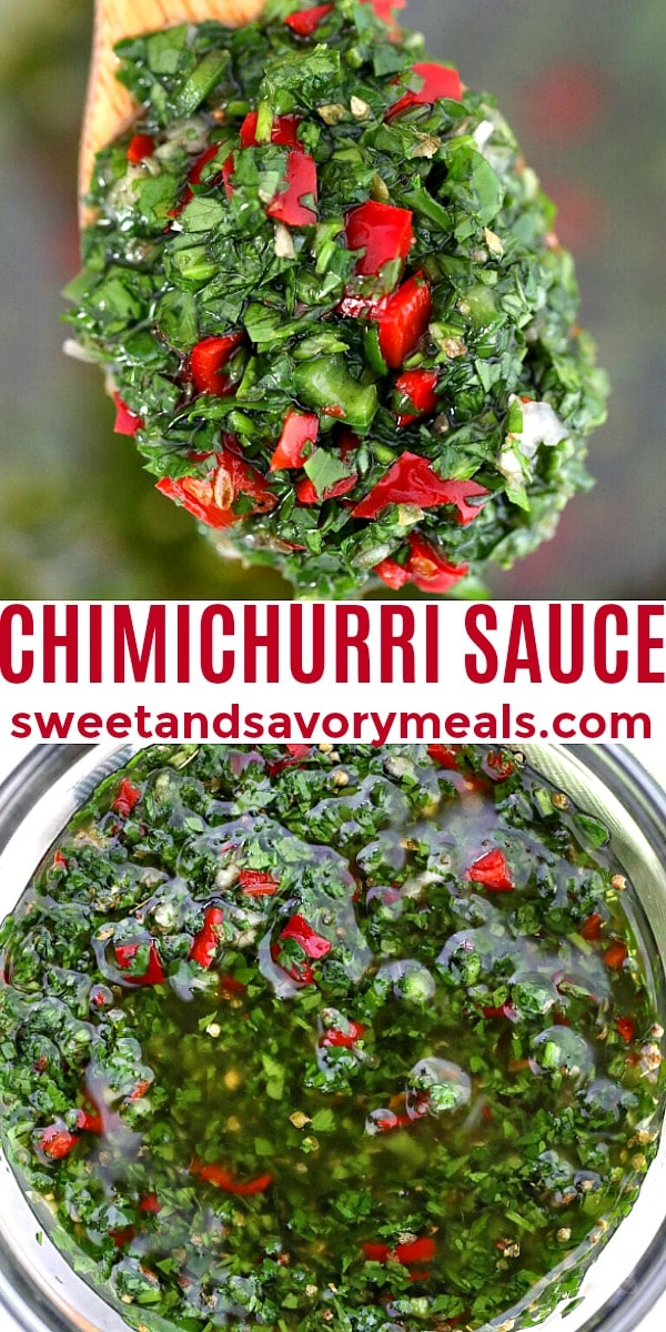 easy chimichurri sauce pin