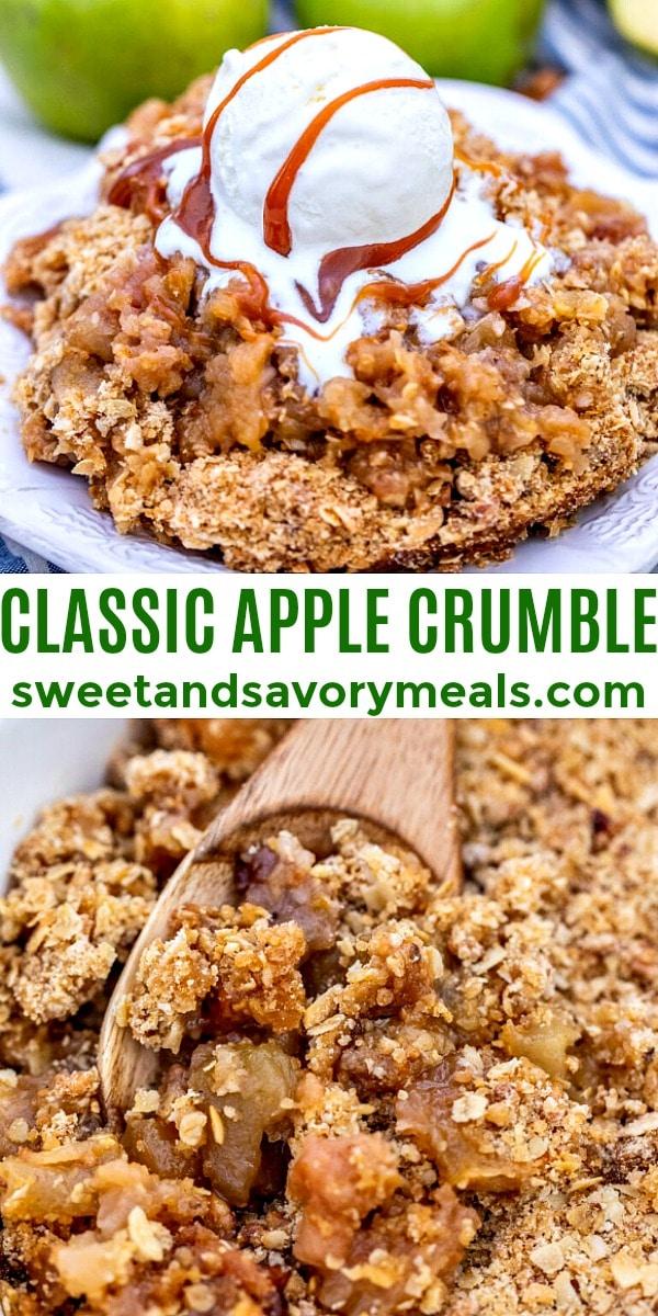 easy classic apple crumble pin