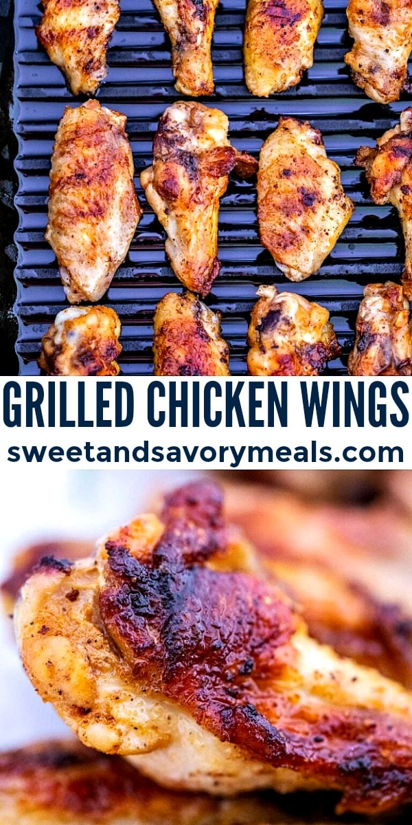 easy grilled chicken wings pin