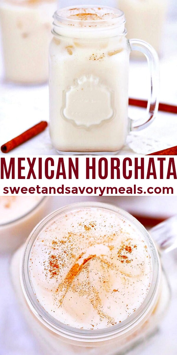 easy mexican horchata pin