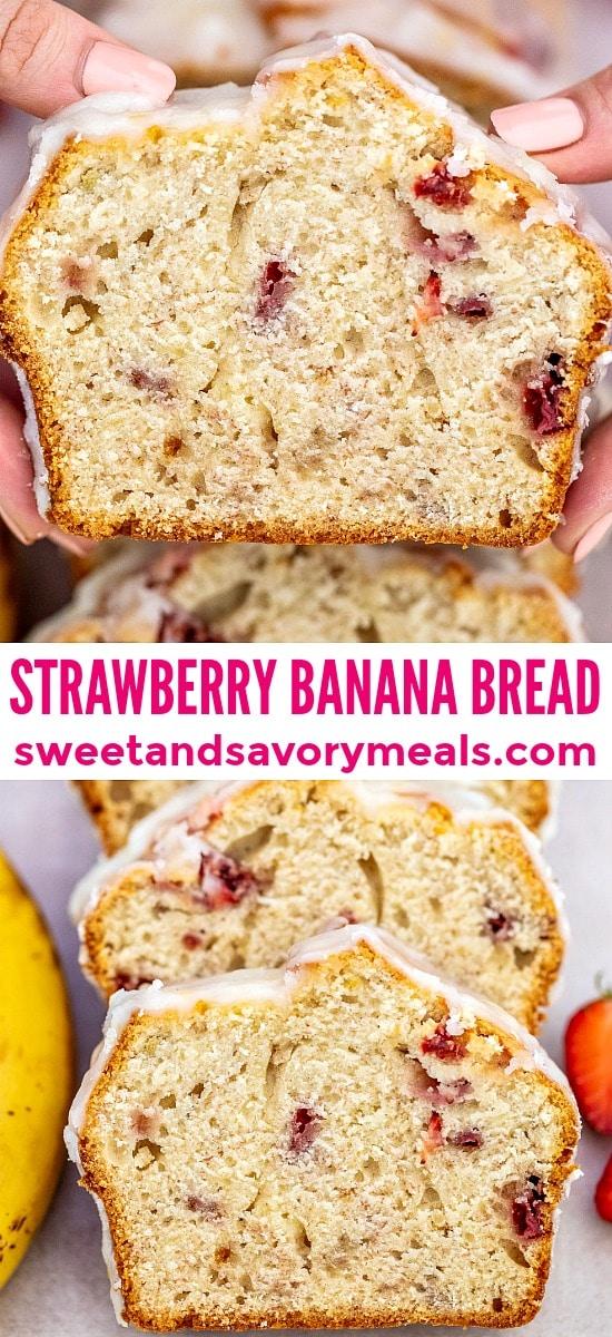Image of best strawberry banana bread.