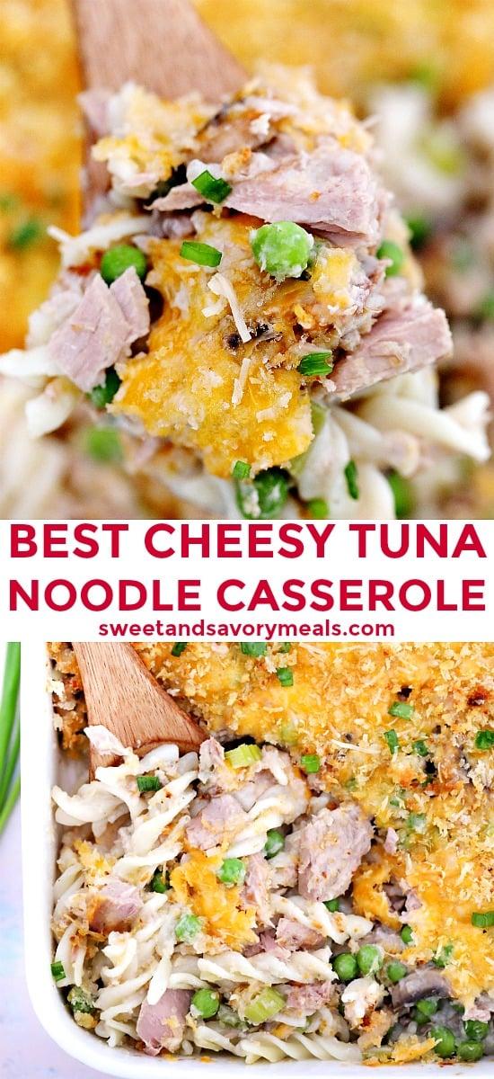 Tuna noodle casserole image.