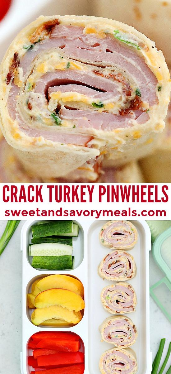 Image of crack turkey pinwheels