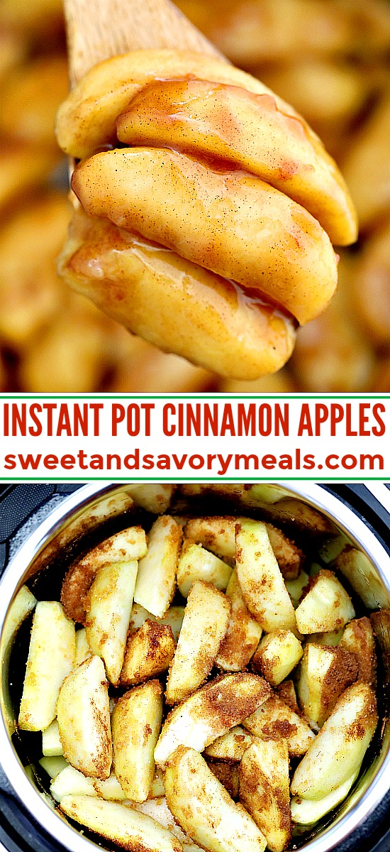 Instant pot cinnamon apples photo for pinterest.