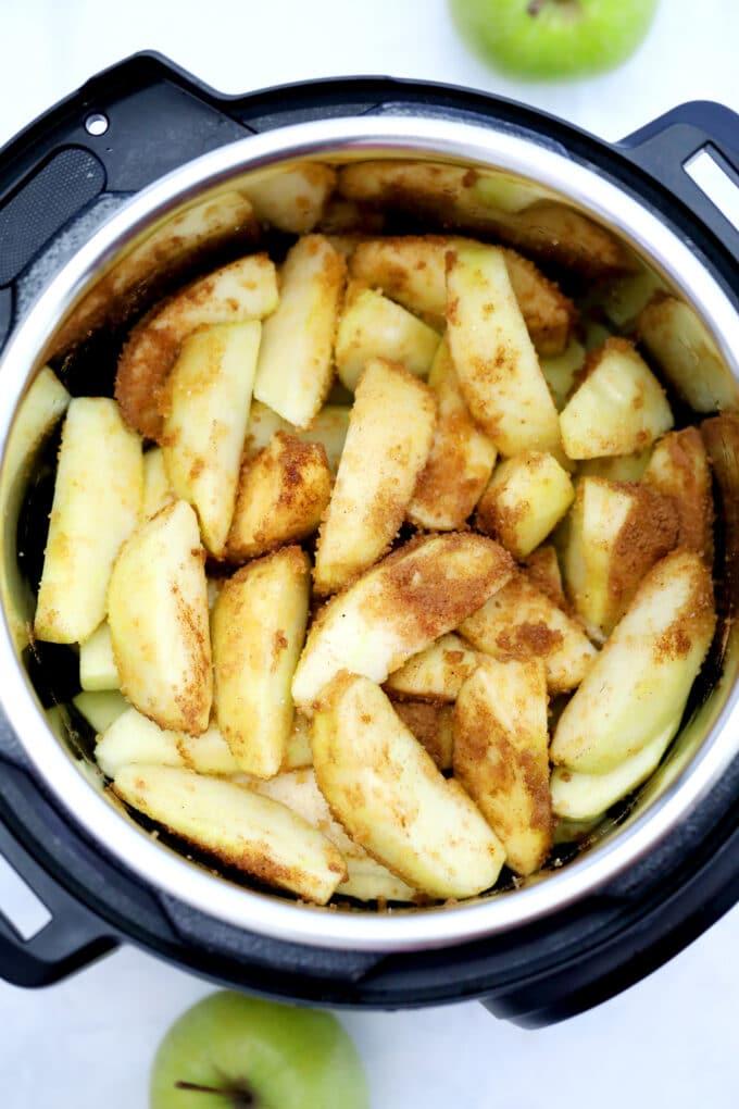 Instant pot cinnamon apples photo.