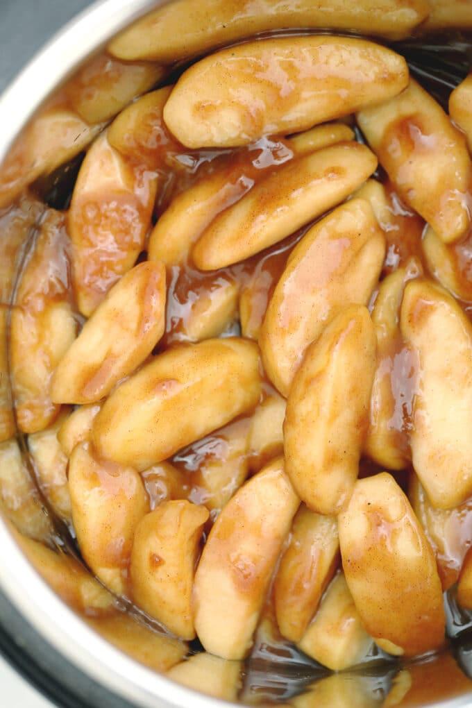 Image of instant pot cinnamon apples.