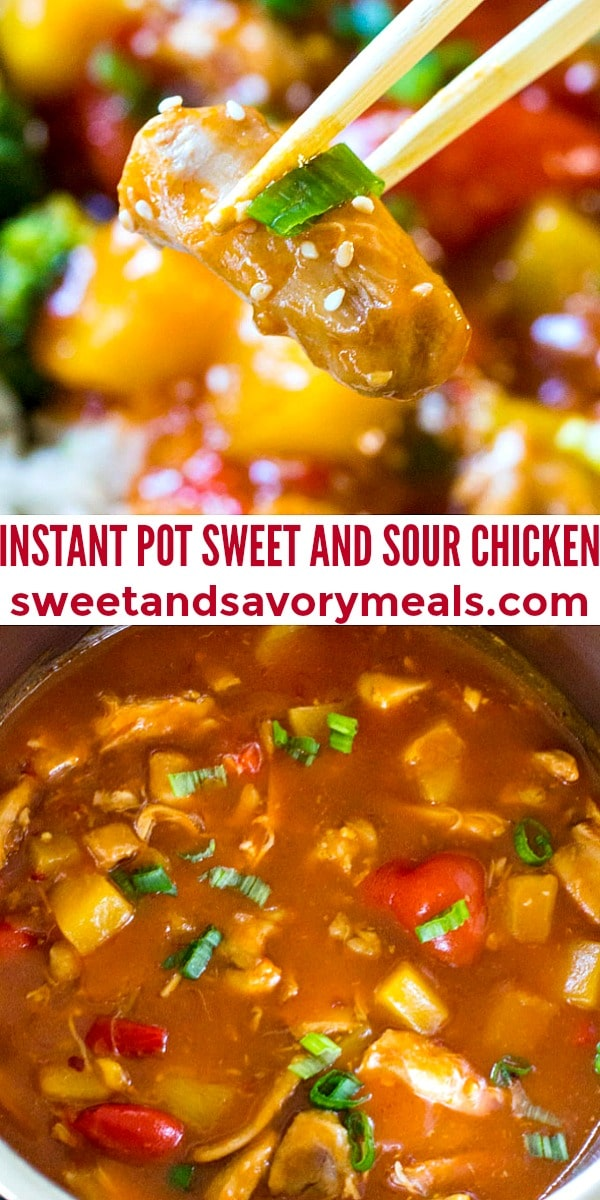 easy instant pot sweet and sour chicken pin